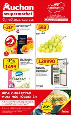 Hiper-Szupermarketek kínálat Auchan katalógusában, ( 5 nap)