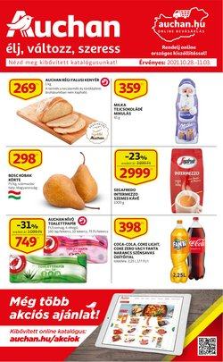 Hiper-Szupermarketek kínálat Auchan katalógusában, ( Most közzé téve)