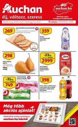 Hiper-Szupermarketek kínálat Auchan katalógusában, ( Közzétéve ma)