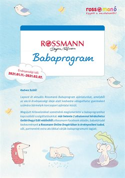 Gyógyszertárak és szépség kínálatok Rossmann katalógusában, Budapest ( 15 nap )
