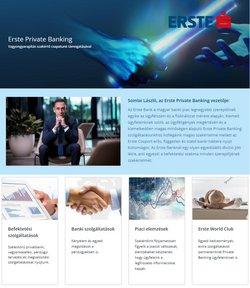 Bankokba és szolgáltatások kínálat Erste Bank katalógusában, ( Több mint egy hónap )