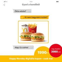 Éttermek kínálat McDonald's katalógusában, ( 8 nap)