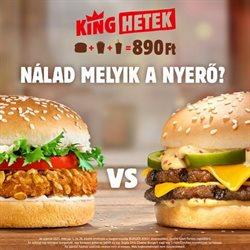 Éttermek kínálatok Burger King katalógusában, Sajószentpéter ( 28 nap )