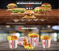 Éttermek kínálat Burger King katalógusában, ( 18 nap)