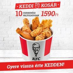 Éttermek kínálat KFC katalógusában, ( hamarosan lejár)