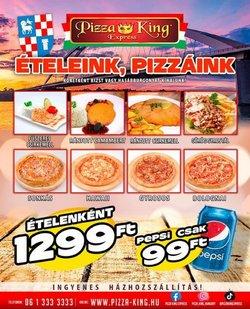 Éttermek kínálat Pizza King katalógusában, ( 5 nap)