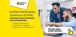 Bankokba és szolgáltatások kínálatok Raiffeisen Bank katalógusában, Sajószentpéter ( 8 nap )