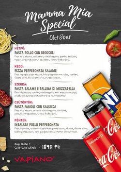 Éttermek kínálat Vapiano katalógusában, ( 4 nap)