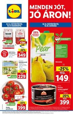 Hiper-Szupermarketek kínálat Lidl katalógusában, ( 4 nap)