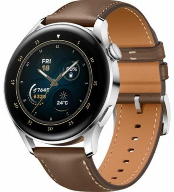 Huawei Watch 3 klasszikus okosóra, barna bőr kínálat, 129989 Ft