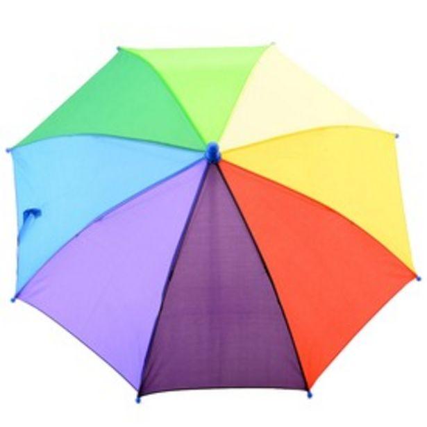 Szivárvány színű esernyő kínálat, 1995 Ft