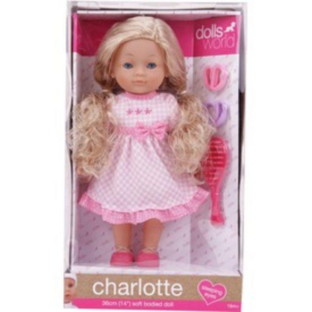 Charlotte fésülhető puha baba kiegészítőkkel - 36 cm kínálat, 11995 Ft
