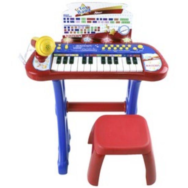 Elektromos zongora mikrofonnal és székkel kínálat, 16995 Ft