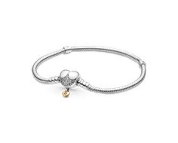 Disney Hercegnős Pandora Moments szívkapcsos kígyólánc karkötő kínálat, 26500 Ft